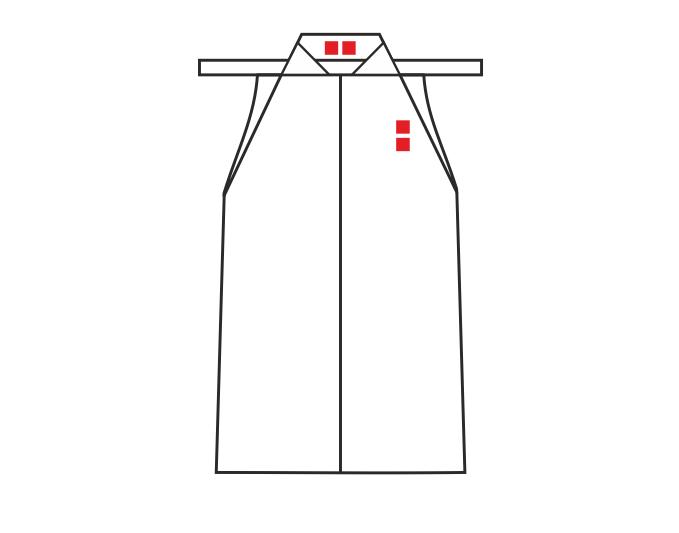 Места для вышивки на хакаме